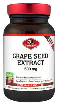 $14.39 Olympian Labs Grape Seed Supplement, 600 mg, 60 Capsules