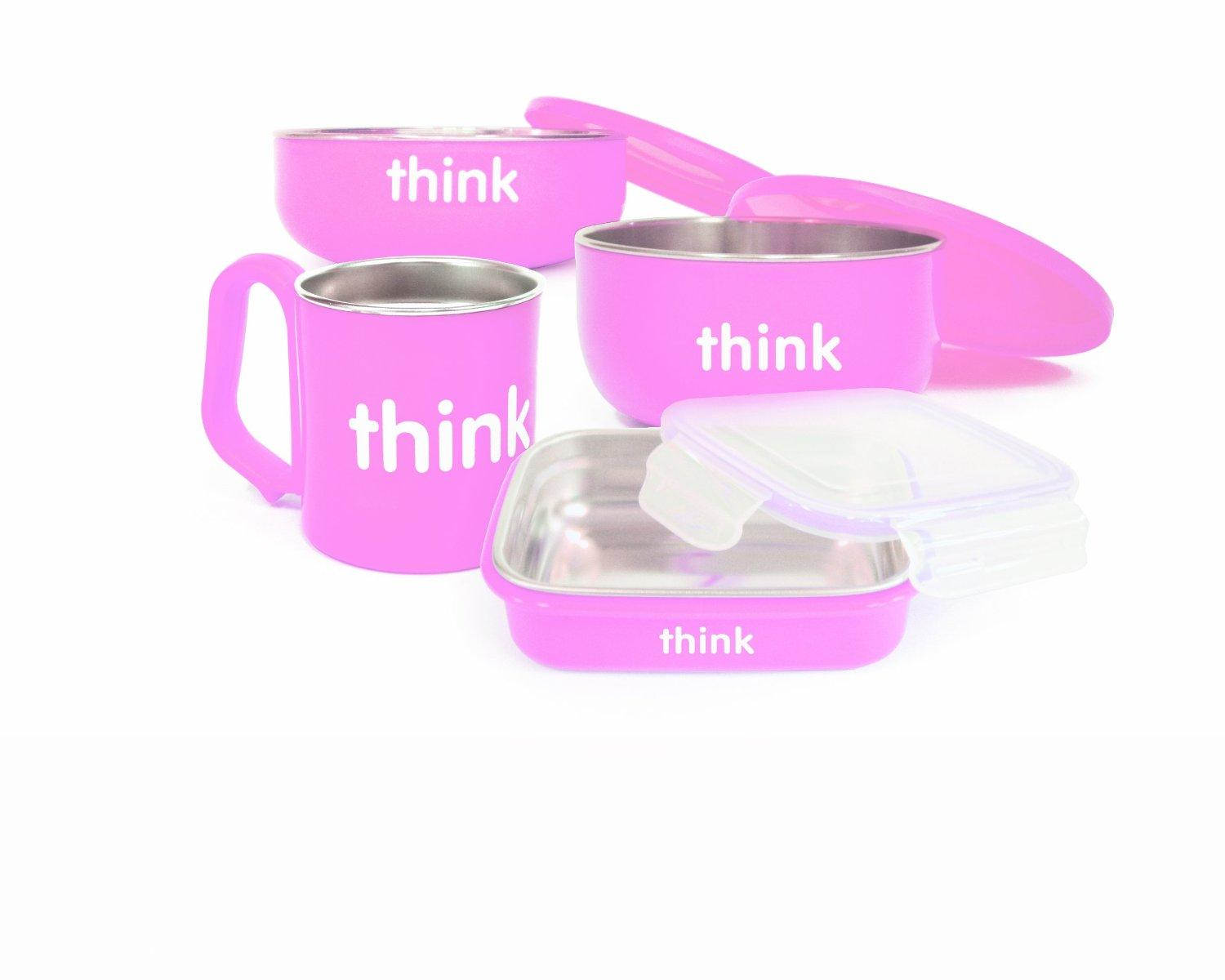 thinkbaby The Complete BPA Free Feeding Set, Light Blue or Pink