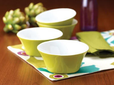 Rachael Ray Dinnerware Round & Square 4-Piece Cereal Bowl Set
