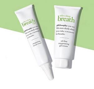 Free Take a Deep Breath Face and Eye Cream Minis With Any Purchase @ philosophy