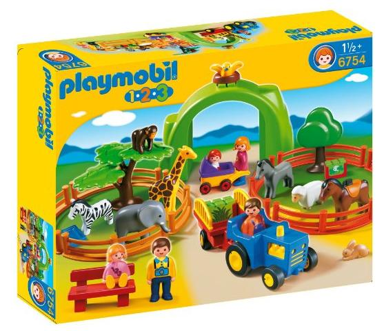 PLAYMOBIL 1.2.3 Large Zoo @ Amazon
