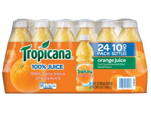 Prime Mamber Only! Tropicana Orange Juice, 10 Ounce (Pack of 24)