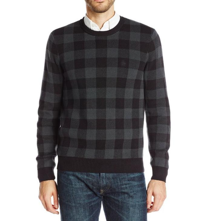 From $26.19 Original Penguin Men's Long-Sleeve Crew Bufflo Plaid Jacquard Sweater