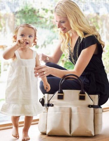 Skip Hop Chelsea Downtown Chic Diaper Satchel, Champagne @ Amazon