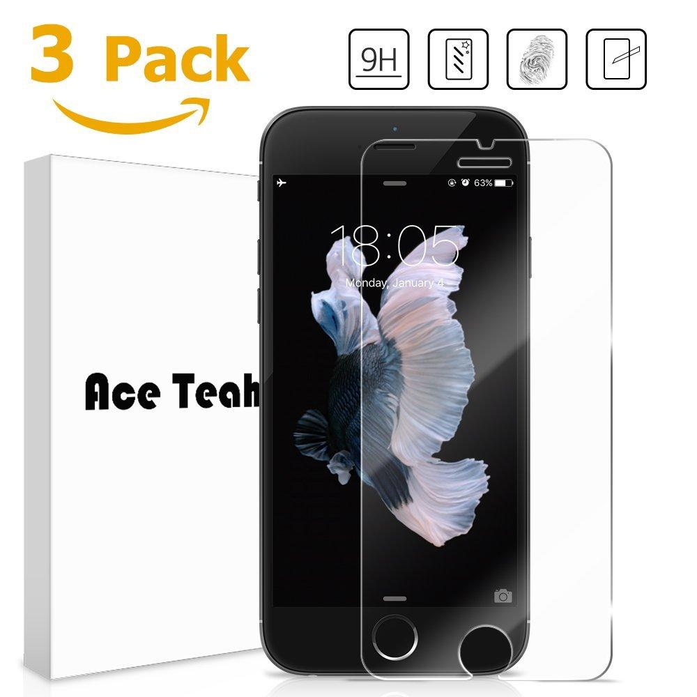 3 Pack Ace Teah (Easy Install) iPhone 6 Plus Tempered Glass Screen Protector