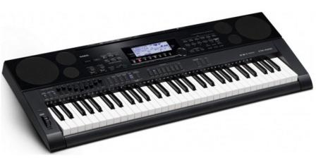 Casio CTK7000 61-Key Portable Keyboard with Power Supply