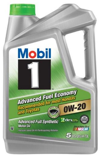 5 Quart Mobil 1 Full Synthetic Motor Oil (Various Models & Grades)