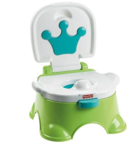 Fisher-Price Royal Stepstool Potty, Green @ Amazon