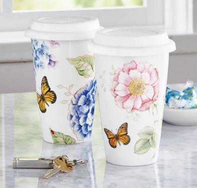 Lenox Butterfly Meadow Thermal Travel Mug -12oz