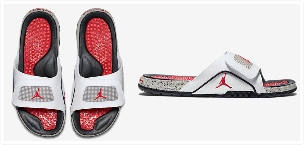 $58 New Arrival Jordan Hydro Retro IV 'White Cement' Men's Slide @ Nike Store