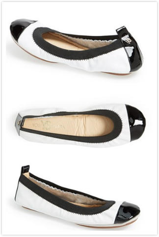 $29.97 Yosi Samra 'Samantha' Foldable Ballet Flat (Women) On Sale @ Nordstrom