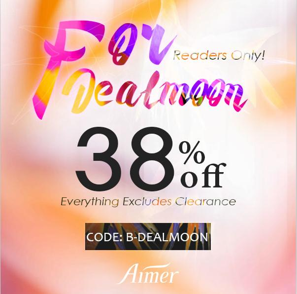 Dealmoon Exclusive! 38% Off Sitewide Sale @ aimeronline.com