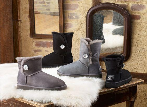 Up to 50% Off UGG Bailey Button Bling Bling @ 6PM.com