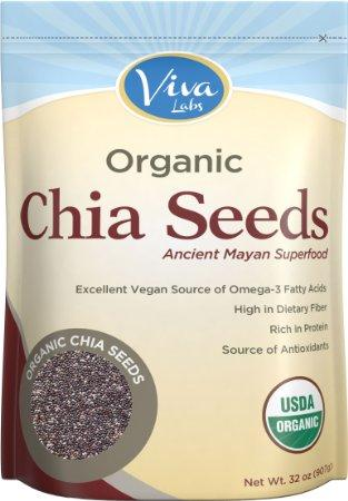 $9.78 Viva Labs Organic Chia Seeds Bag, 2 Pound