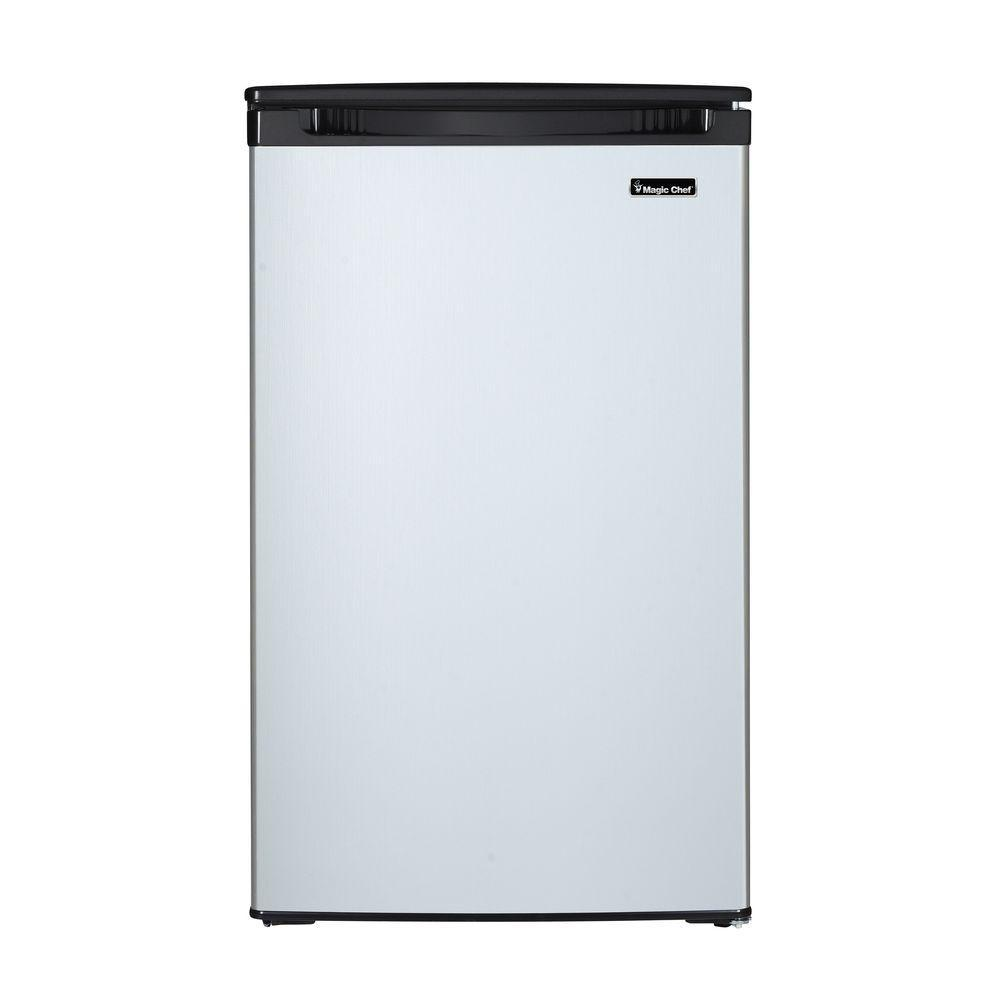 Magic Chef 4.4 cu. ft. Mini Refrigerator in Stainless Look