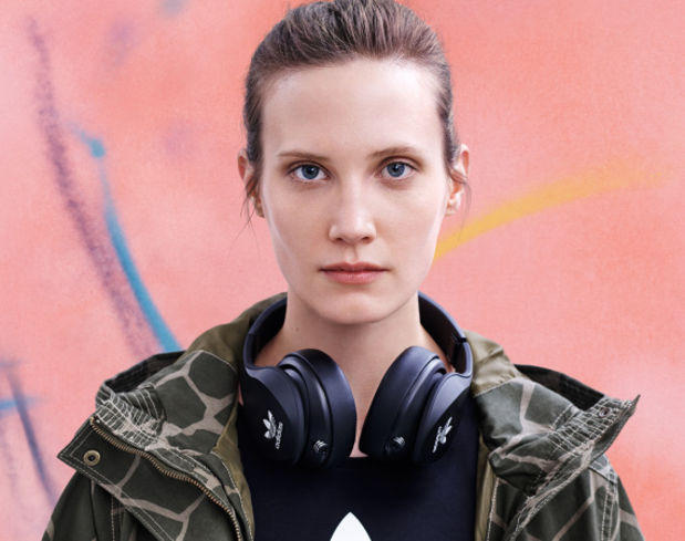 adidas Originals by Monster Flexible Over-Ear Headphones with Apple ControlTalk