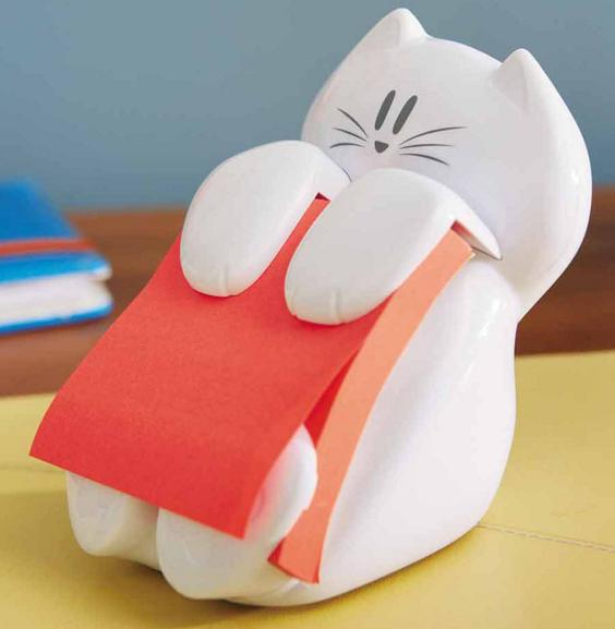 #1 Best seller! $6 Post-it Cat Figure Pop-up Note Dispenser, 3 inch x 3 inch
