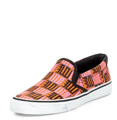 Kenzo  Love-Print Leather Skate Shoe @ Bergdorf Goodman
