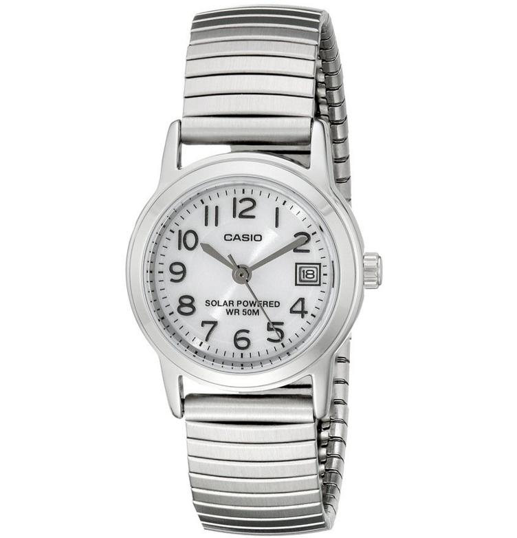 Lowest price! Casio Women's LTP-S100E-7BVCF Easy-To-Read Solar Stainless Steel Watch