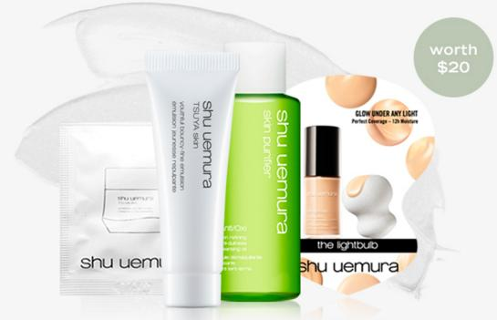 4-pc sample set With $50 Purchase @ Shu Uemura