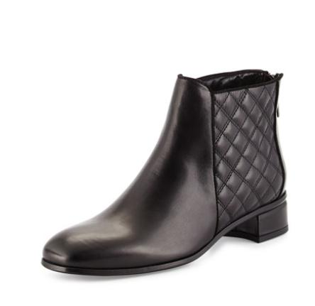 Aquatalia  Lacey Quilted Leather Boot, Black @ Bergdorf Goodman