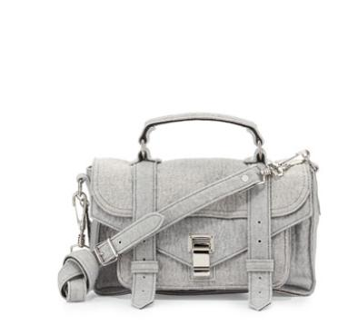 Proenza Schouler  PS1 Tiny Felt & Leather Satchel Bag @ Bergdorf Goodman