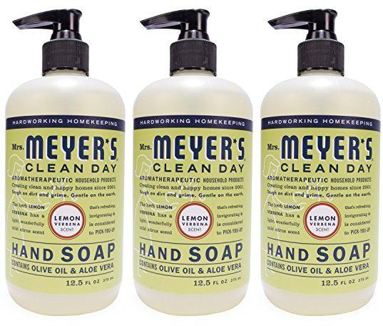 $6.38 Mrs. Meyer's Hand Soap Lemon Verbena, 12.5 Fluid Ounce (Pack of 3)