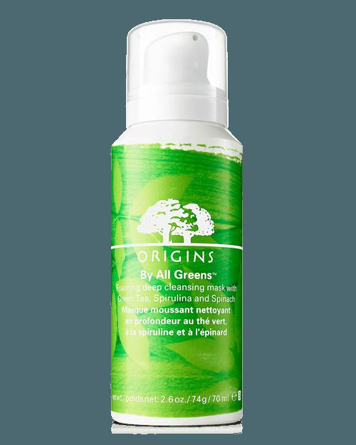 New Release Origins launched new BY ALL GREENS forming deep cleansing mask