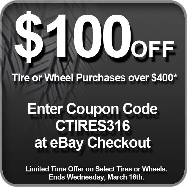 $100 Off $400 or More Motor Wheels & Tires @ Discount Tire Direct
