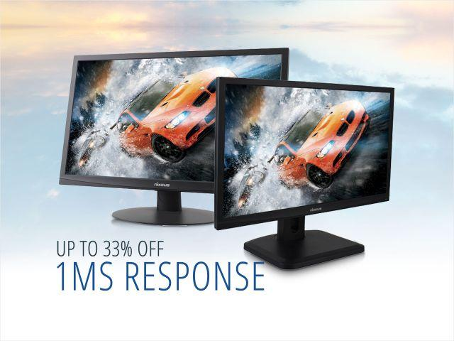 "As low as $219.99 Nixeus 24"" 1080p 1ms 144Hz Adaptive-Sync Gaming Monitors"