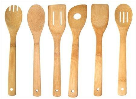 Home Basics BT01045 6 Piece Bamboo Kitchen Tool Set