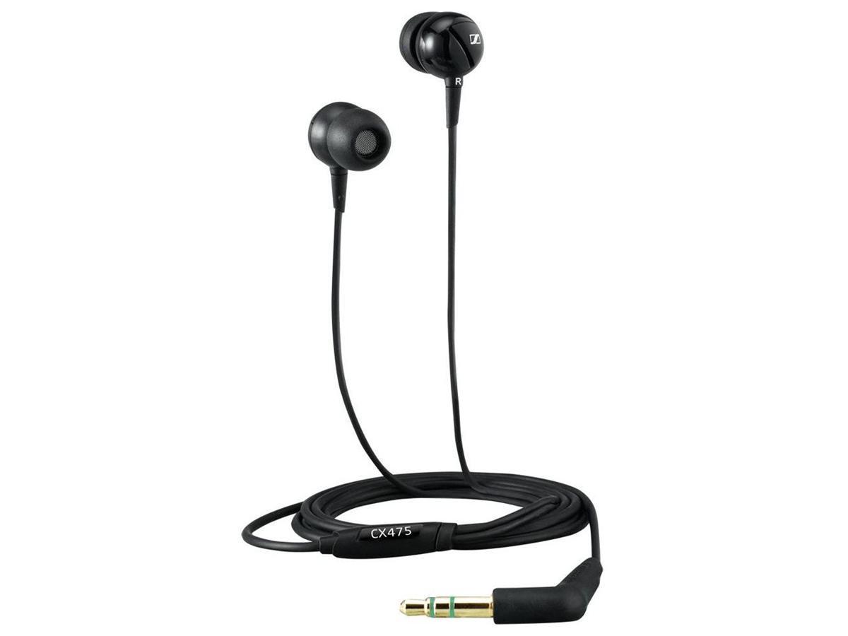Sennheiser CX 475 Premium In-Ear Noise Blocking Headphones, Black