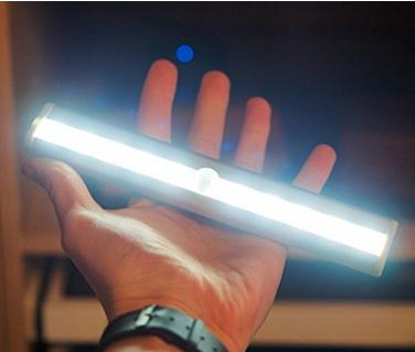 $10 OxyLED T-02 DIY Stick-on Anywhere Portable 10 LED Wireless Motion Sensing