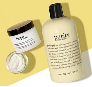 Free Purity and Hope in a Jar Minis With Any $80 Purchase @ philosophy