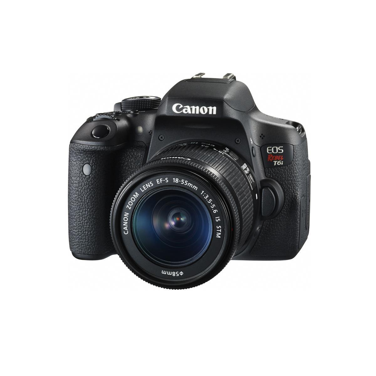 Canon EOS T6i DSLR Camera with EF-S 18-55mm Lens, PIXMA PRO100 Printer and Samsung EVO+ 64GB