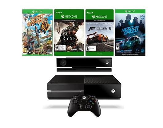 $299.99 Factory Reconditioned Microsoft Xbox One 500GB w/Kinect & Forza 5, Ryse: Son of Rome, Sunset Overdrive, Need for Speed