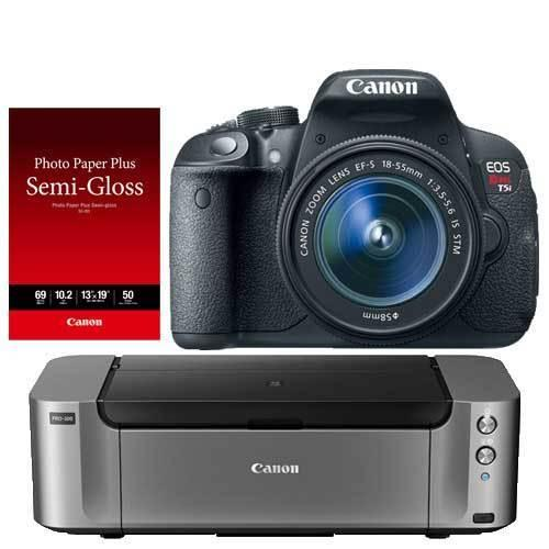 Canon EOS Rebel T5i DSLR Camera with 18-55mm Special Promotional Bundle