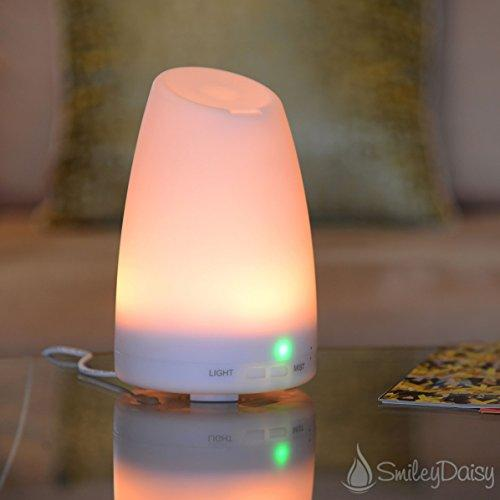 Lowest price! $27.18 Smiley Daisy Aromatherapy Essential Oil Diffuser, White, 120ml