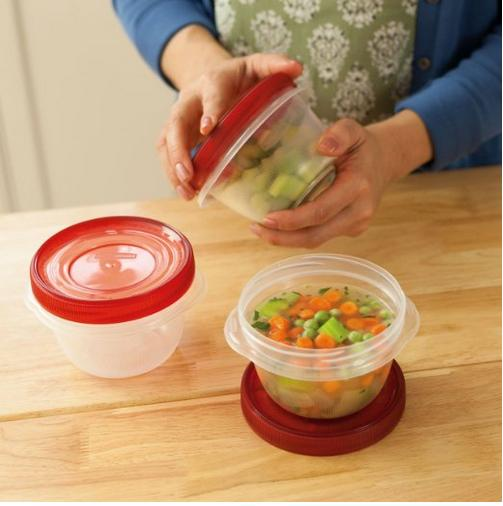 $2.03 Rubbermaid TakeAlongs Twist and Seal Food Storage Containers, 2-Cup, Clear, Set of 3