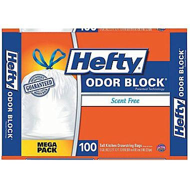 Hefty® CinchSak Drawstring Trash Bags, 13 Gallon, 100 Bags/Box