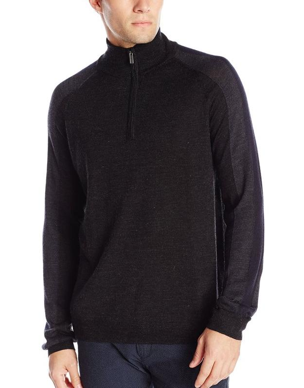 Calvin Klein Men's Color-Block Half-Zip Sweater @ Amazon