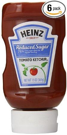 Heinz Tomato Ketchup, Reduced Sugar, 13 Ounce (Pack of 6)