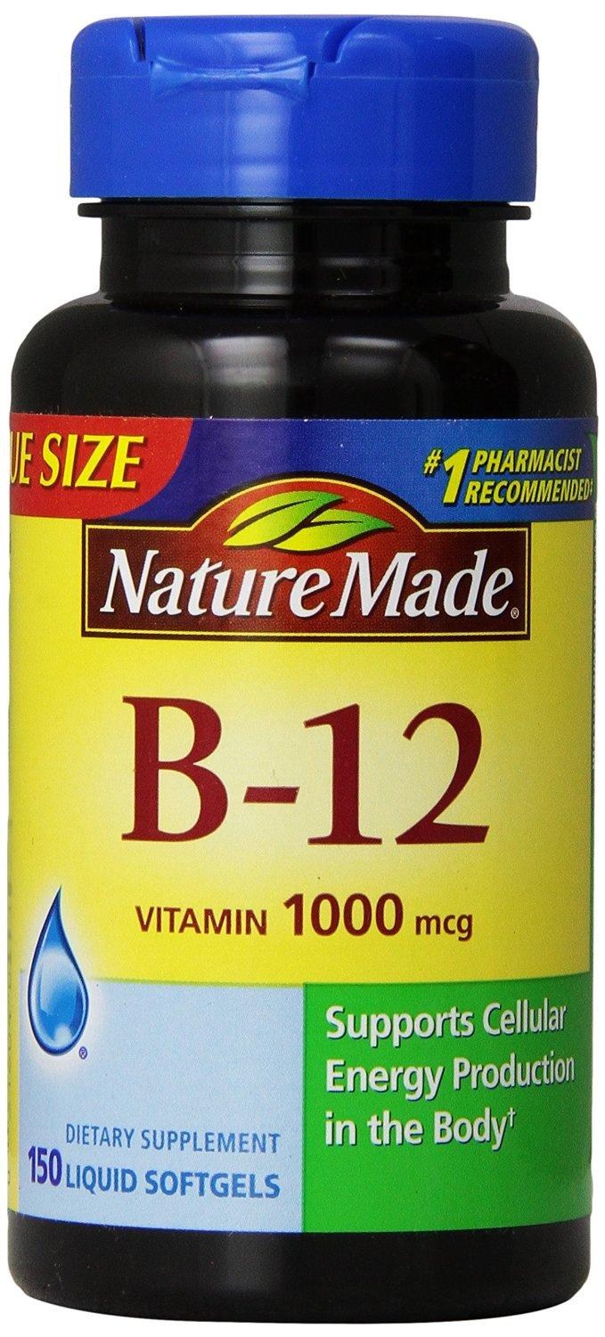 $3.35 Nature Made Vitamin B-12 Value Size Softgel, 1000 mcg, 150 Count