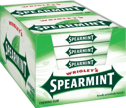 $8.19 Wrigley's Spearmint Gum, 15-Stick Slim Packs (Pack of 20)
