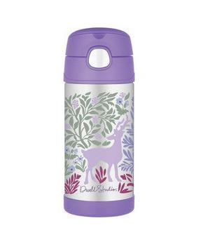$12.99 DwellStudio for Thermos Vacuum Insulated Stainless Steel Funtainer Straw Bottle, Fauna, 12 Ounce