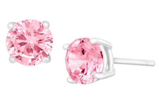 25% Off + Free 6MM Pink CZ Studs in Sterling Silver Sitewide @ Jewelry.com
