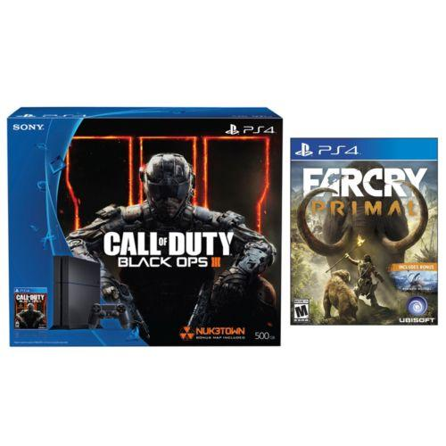 $349.99 PlayStation 4 Console COD Black Ops 3 500GB Bundle+Far Cry Primal-Physical Disc