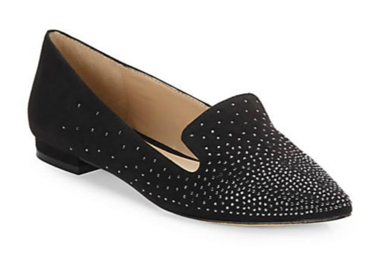 Saks Fifth Avenue Kaida Sueded Fabric Flats @ Saks Off 5th