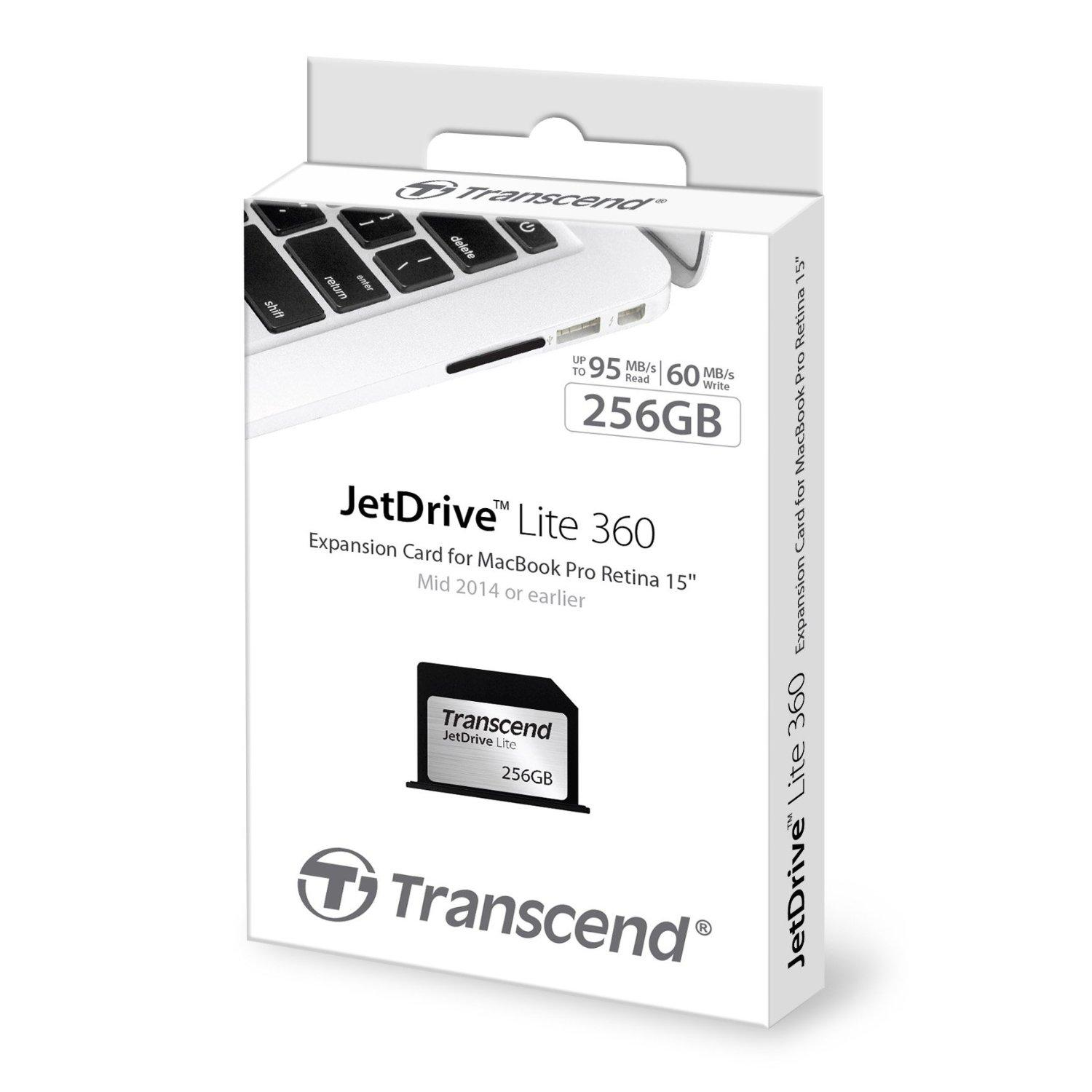 $138.99 Transcend 256GB JetDrive Lite 360 Storage Expansion Card for 15-Inch MacBook Pro with Retina Display