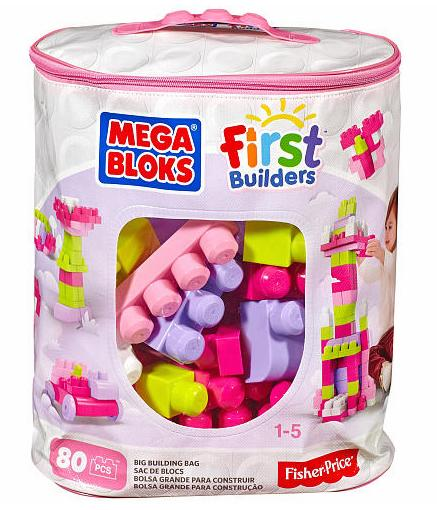 Mega Bloks First Builders Big Building Bag - Pink (80 pcs)